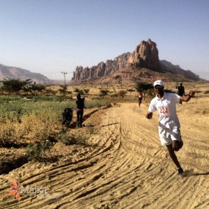 Gebre Gebremariam, mid-way through the course