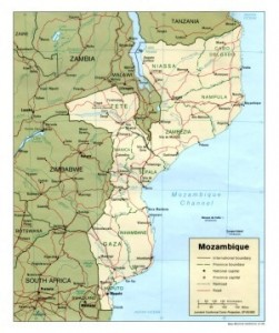 Mozambique. We're going to Zambezia in the middle