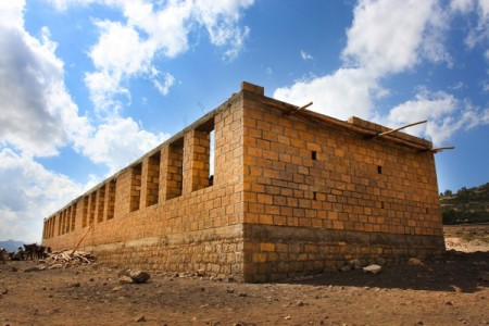 The half completed Laelay Weste Community School