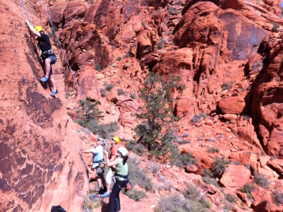 The Osprey Packs Intro Rock Climbing Course at the Red Rock Rendezvous