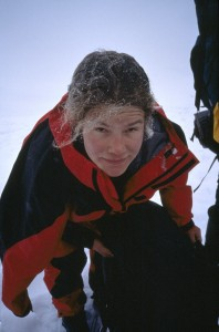 Majka Burhardt Ice Climbing, 1996 season, age 20. Ready for a season switch?